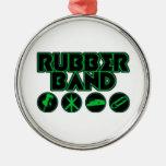 Logotipo de lujo de la parodia de la goma ornaments para arbol de navidad