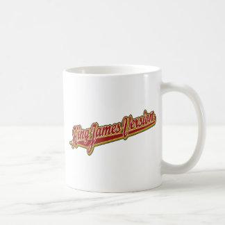 Logotipo de lujo de rey James Version Taza De Café