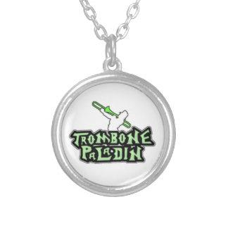 Logotipo de lujo del paladín del Trombone Pendiente