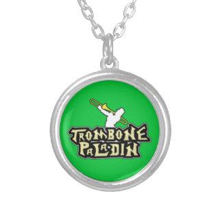 Logotipo de lujo del paladín del Trombone Pendientes