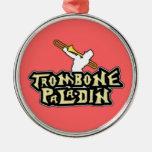 Logotipo de lujo del paladín del Trombone Ornamento Para Arbol De Navidad