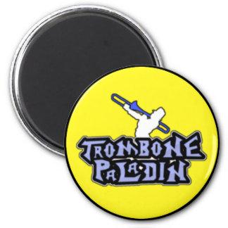 Logotipo de lujo del paladín del Trombone Imán Redondo 5 Cm
