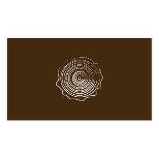 Logotipo de madera tarjetas de visita
