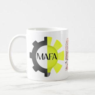 Logotipo de MAFA y taza de la nube de la palabra