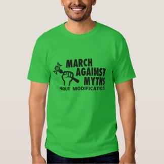 Logotipo de MAMyth en la camiseta verde oscuro Camisas