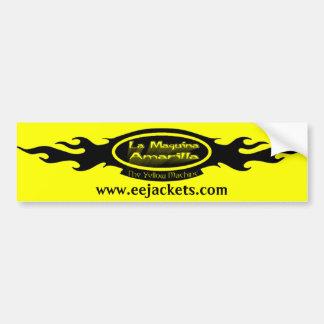 Logotipo de Maquina Amarilla del La Pegatina Para Auto