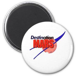 Logotipo de Marte del destino de la NASA Imán Redondo 5 Cm