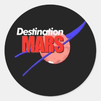 Logotipo de Marte del destino de la NASA Pegatinas