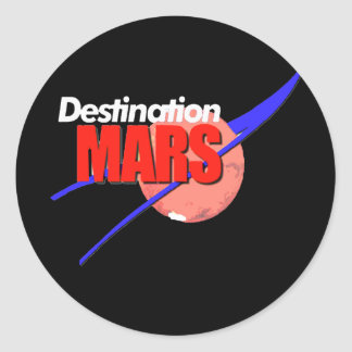 Logotipo de Marte del destino de la NASA Pegatina Redonda
