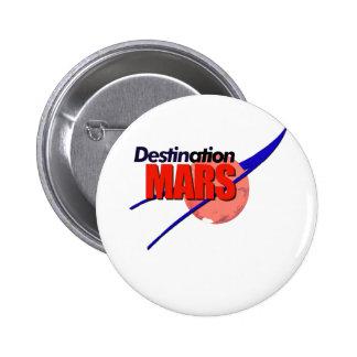Logotipo de Marte del destino de la NASA Pins