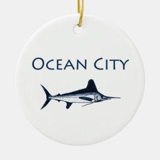 Logotipo de Maryland de la ciudad del océano aguj Ornamentos De Reyes Magos