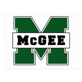 Logotipo de McGee del Colegial-Estilo Tarjeta Postal