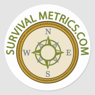 Logotipo de Metrics.com de la supervivencia Pegatina Redonda