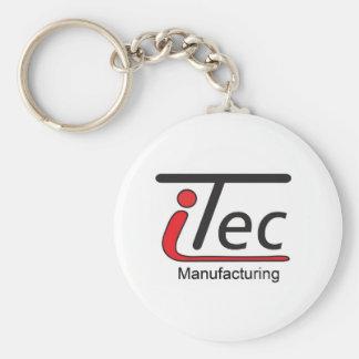 logotipo de Mfg del iTec Llavero Redondo Tipo Pin
