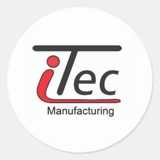 logotipo de Mfg del iTec Pegatina Redonda