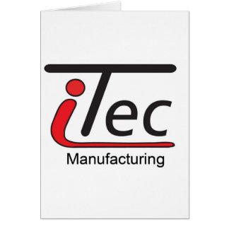 logotipo de Mfg del iTec Tarjeta De Felicitación