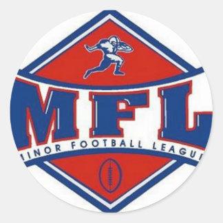 Logotipo de MFL Pegatina Redonda