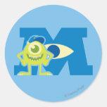 Logotipo de Mike M Pegatina Redonda