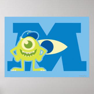 Logotipo de Mike M Póster