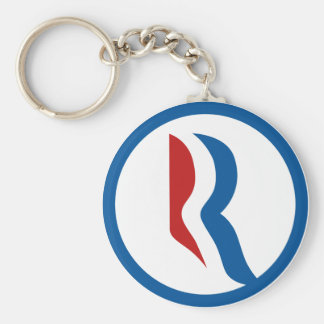 """Logotipo de Mitt Romney """"R"""" Llavero"""