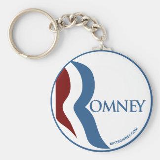 "Logotipo de Mitt Romney ""R"" Llavero Redondo Tipo Pin"