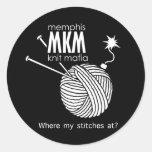 Logotipo de MKM Pegatina Redonda