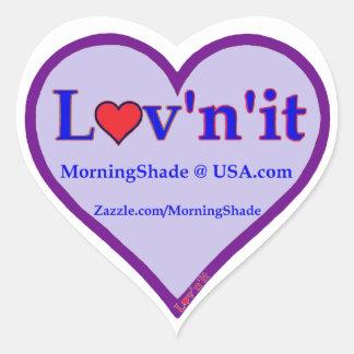 Logotipo de MorningShade Pegatina En Forma De Corazón