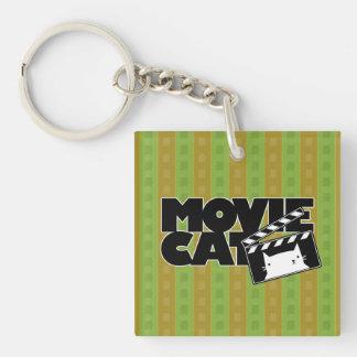 Logotipo de MovieCat Llavero Cuadrado Acrílico A Doble Cara