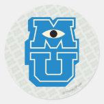 Logotipo de MU Pegatina Redonda