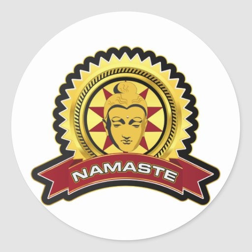 Logotipo de Namaste Buda Pegatina
