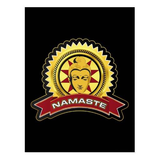 Logotipo de Namaste Buda Tarjeta Postal