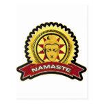 Logotipo de Namaste Buda Tarjetas Postales