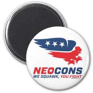 Logotipo de Neocon Chickenhawk Imán Redondo 5 Cm