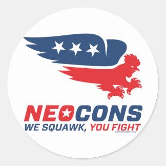 Logotipo de Neocon Chickenhawk Pegatina Redonda
