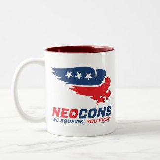 Logotipo de Neocon Chickenhawk Taza Dos Tonos