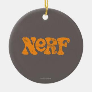Logotipo de Nerf del vintage Adorno Navideño Redondo De Cerámica