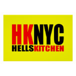 Logotipo de New York City de la cocina del infiern Impresiones