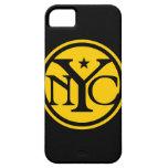Logotipo de New York City del vintage iPhone 5 Case-Mate Cárcasas
