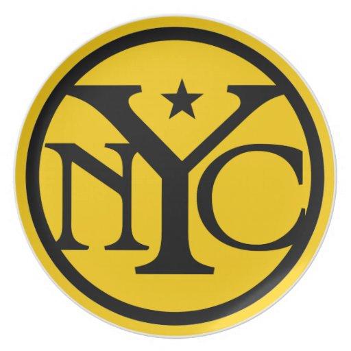 Logotipo de New York City del vintage Platos