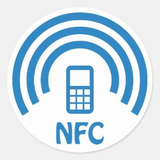 Logotipo de NFC Pegatina Redonda