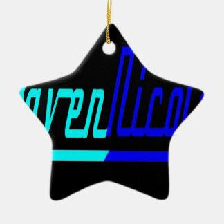 Logotipo de Nicole del cuervo Adorno Navideño De Cerámica En Forma De Estrella