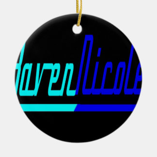 Logotipo de Nicole del cuervo Adorno Navideño Redondo De Cerámica