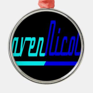 Logotipo de Nicole del cuervo Adorno Navideño Redondo De Metal