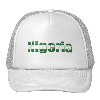 Logotipo de Nigeria en los colores de la bandera n Gorro