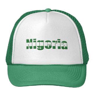 Logotipo de Nigeria en los colores de la bandera n Gorras