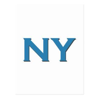 Logotipo de NY (texto) Tarjeta Postal
