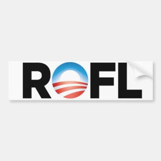 Logotipo de Obama - balanceo en la risa del piso Pegatina De Parachoque