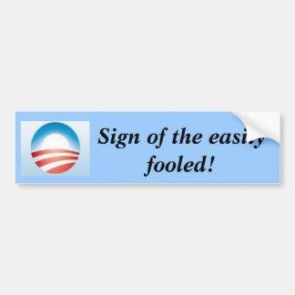 Logotipo de Obama Pegatina De Parachoque