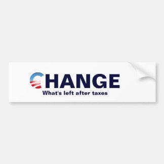 logotipo de obama, cambio, después qué se va… pegatina para auto
