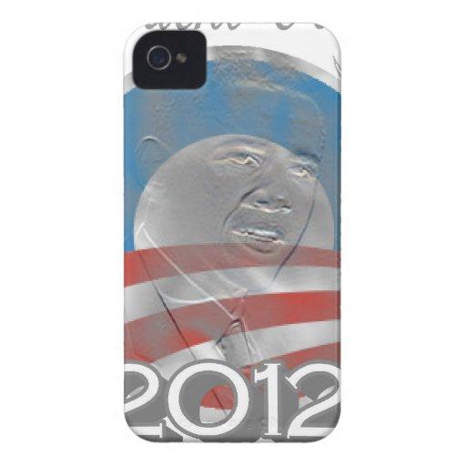 logotipo de obama del voto - imagen - 2012 iPhone 4 Case-Mate cárcasa